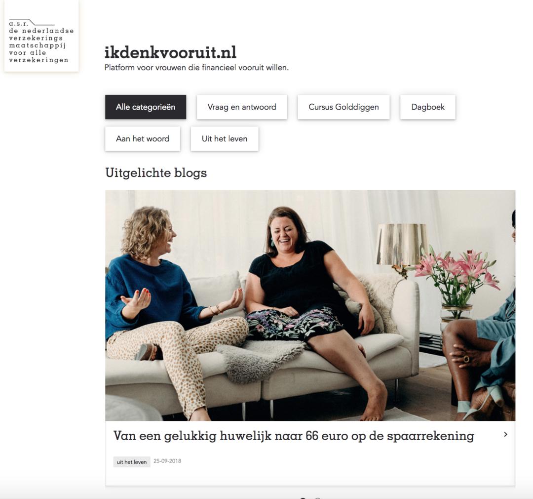 a.s.r.: Opzetten contentmarketing platform