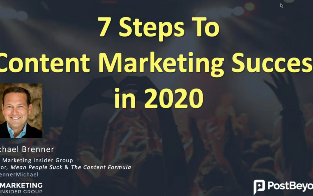 De acht voorwaarden voor contentmarketing succes in 2020